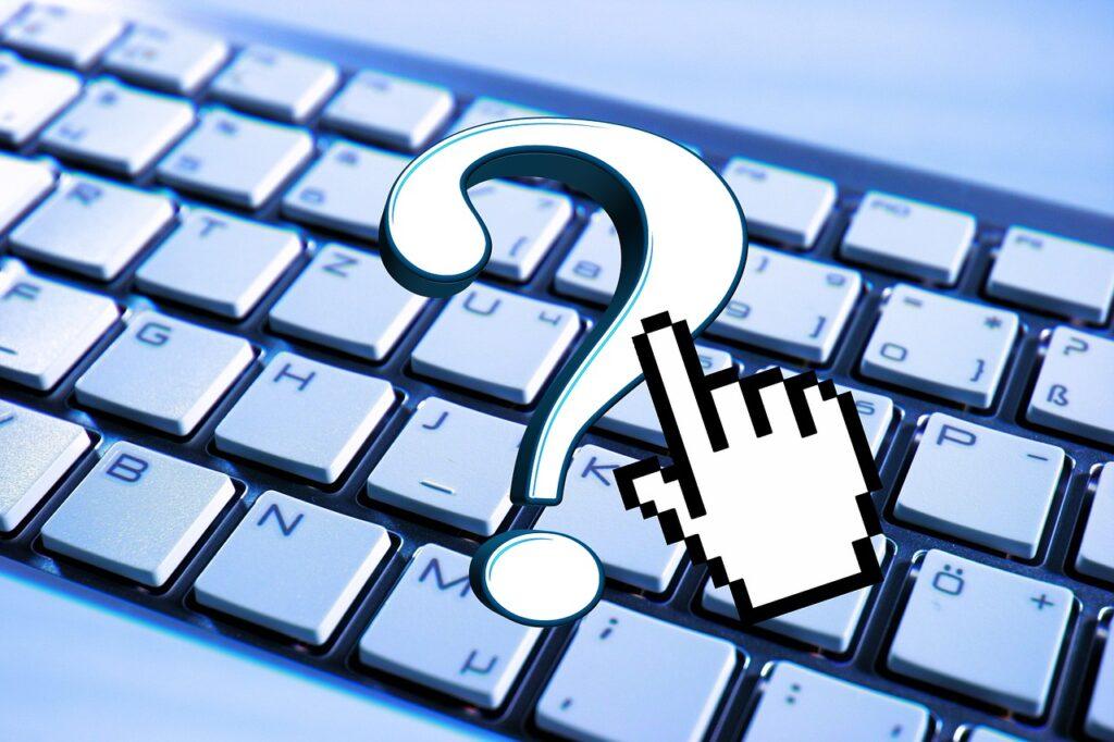 keyboard, question, help